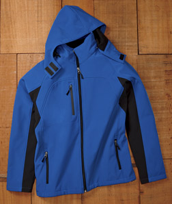 ULTRACLUB - 8290 Adult Color Block 3-in-1 Systems Hooded Soft Shell Jacket