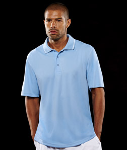 ULTRACLUB - 8394 UltraClub Men's Polo with Tipped Collar