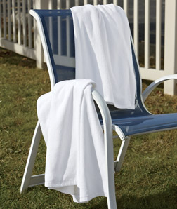 ULTRACLUB - C3560 White Velour Beach Towel