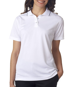 ULTRACLUB - 8394L UltraClub Ladies' Polo with Tipped Collar