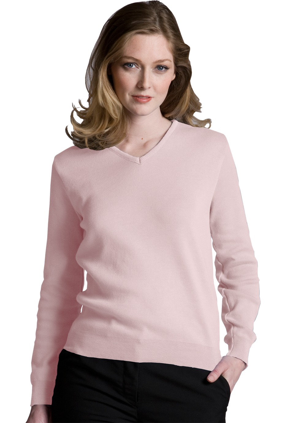 Edwards Garment 090 - Women's Cotton Cashmere V-Neck Sweater ...