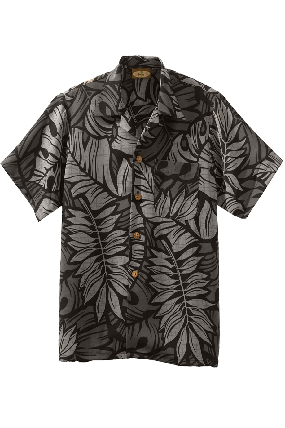 Edwards Garment 1018 - South Seas Leaf Print Camp Shirt