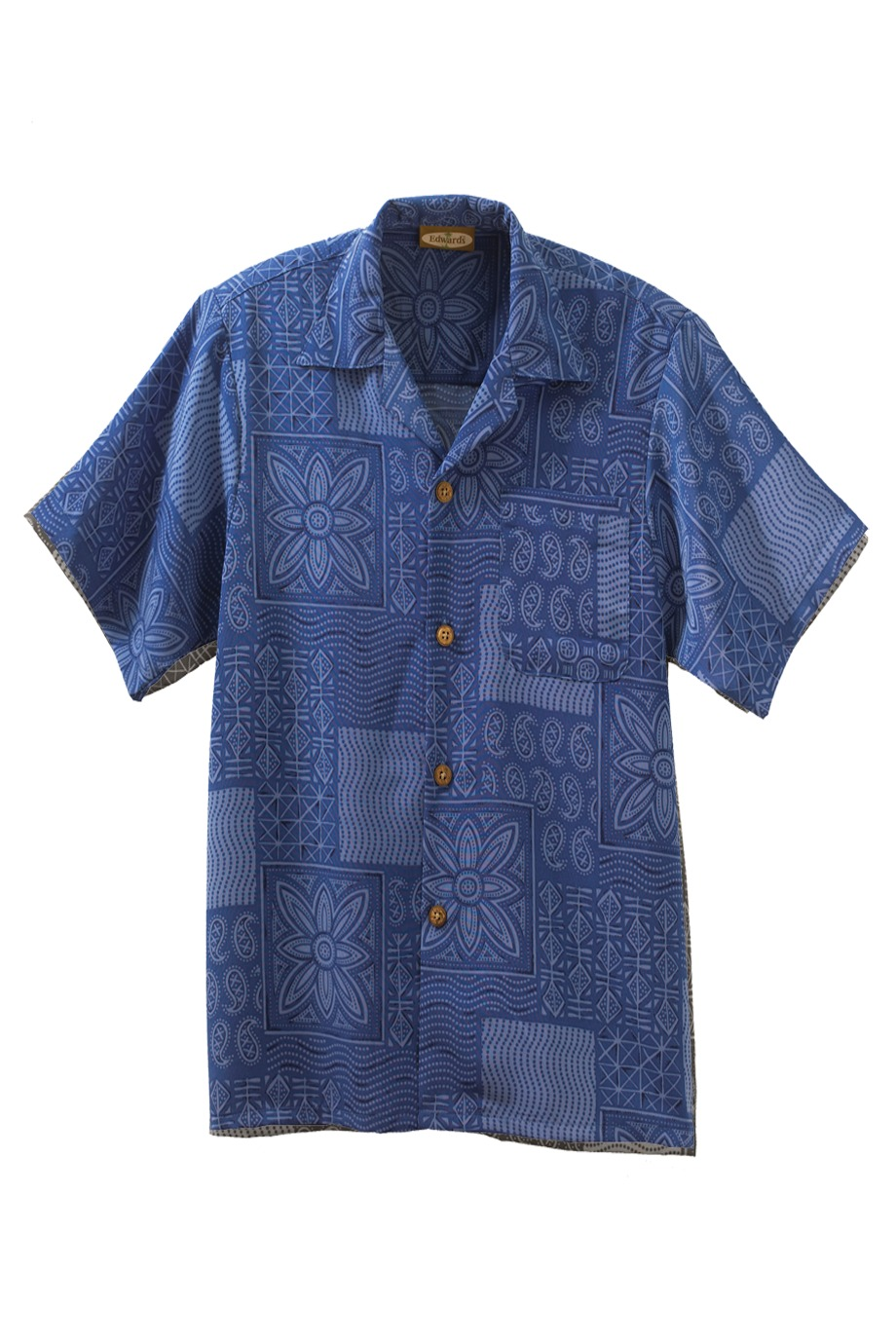 Edwards Garment 1019 - South Seas Geometric Print Camp ...