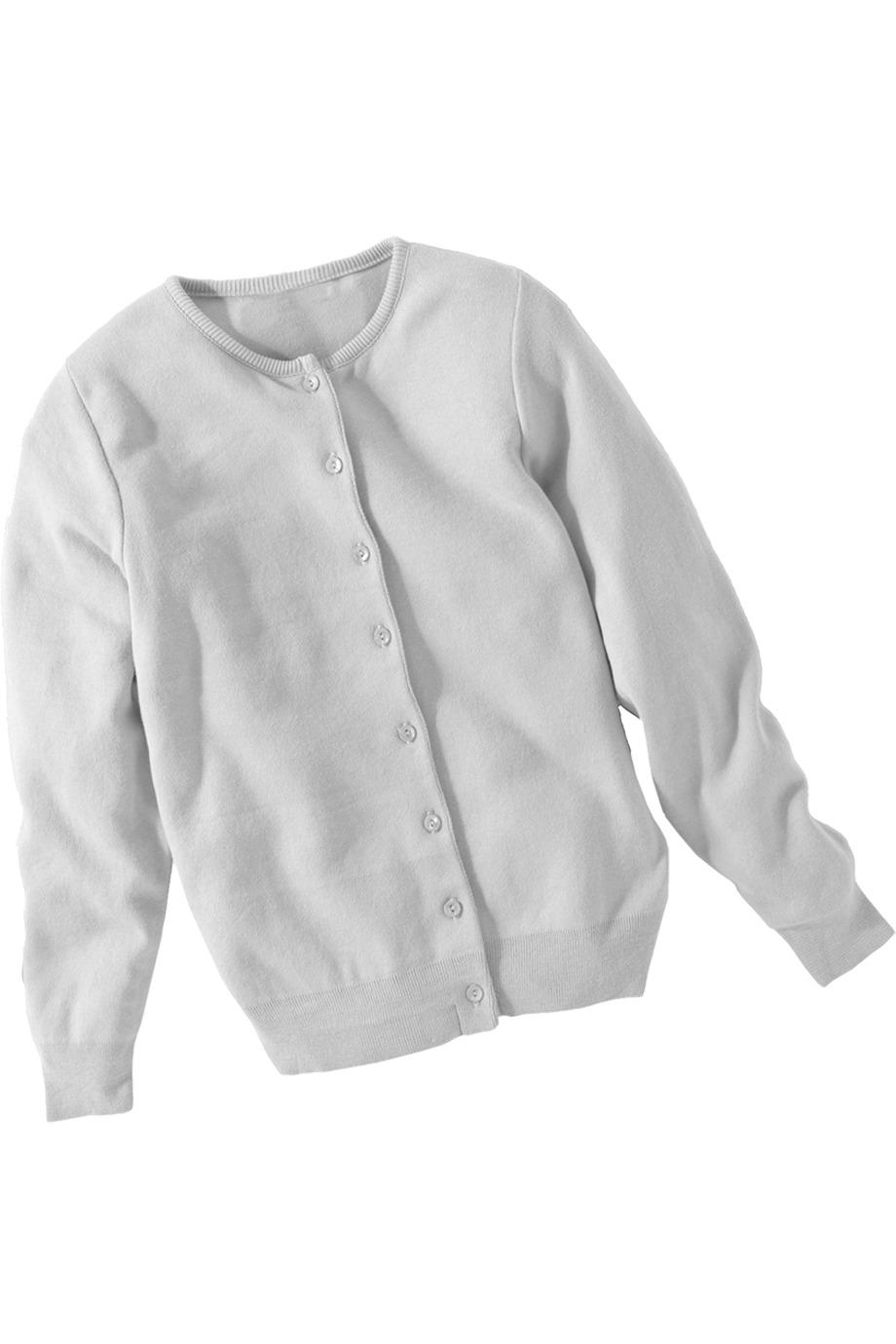 Edwards Garment 111 女士棉质山羊绒圆领开襟羊毛衫