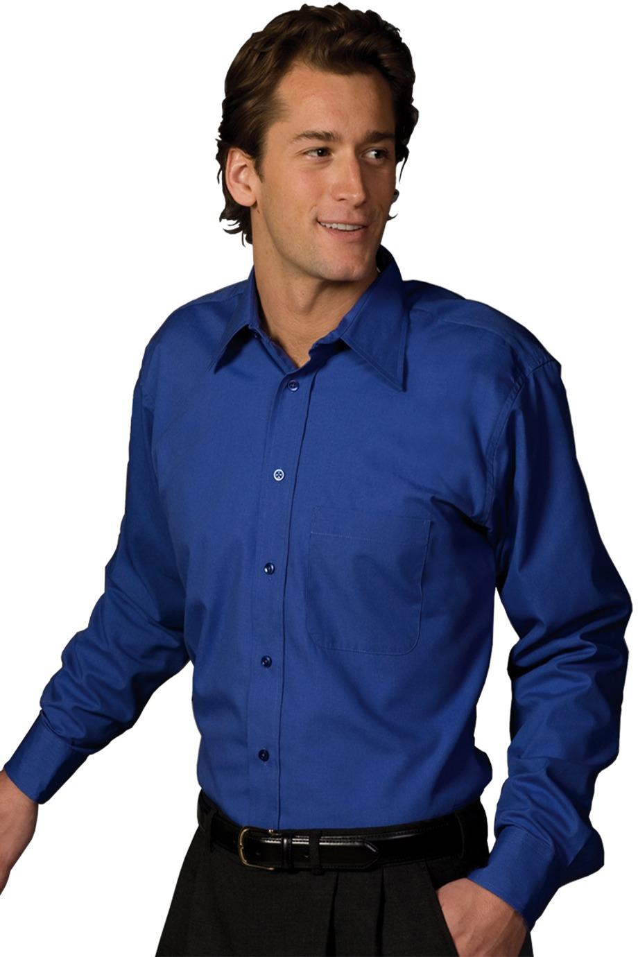 Edwards Garment 1287 - Men's Easy Care Poplin Point Collar Shirt