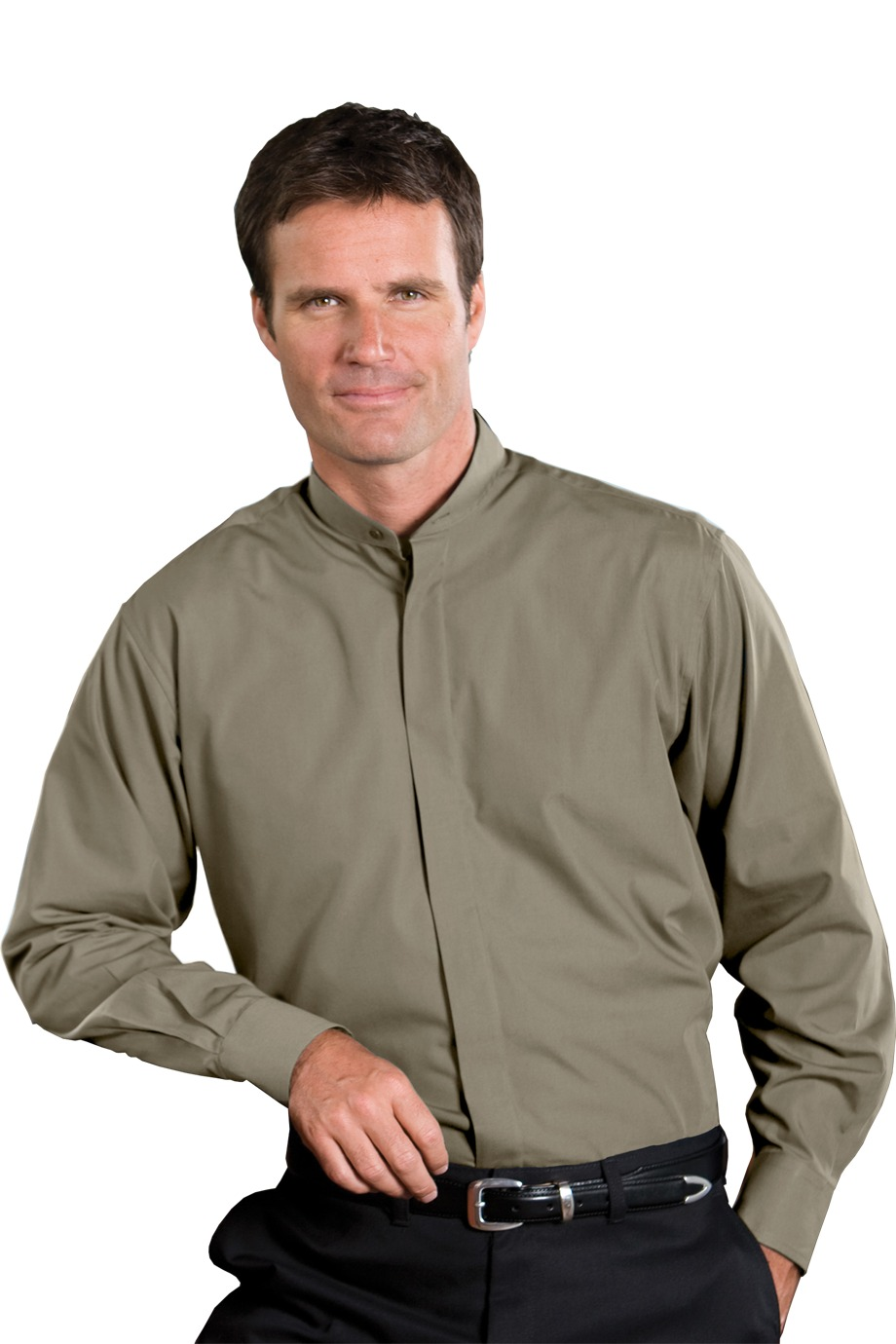 Edwards Garment 1396 - Men's Long Sleeve Banded Collar ...
