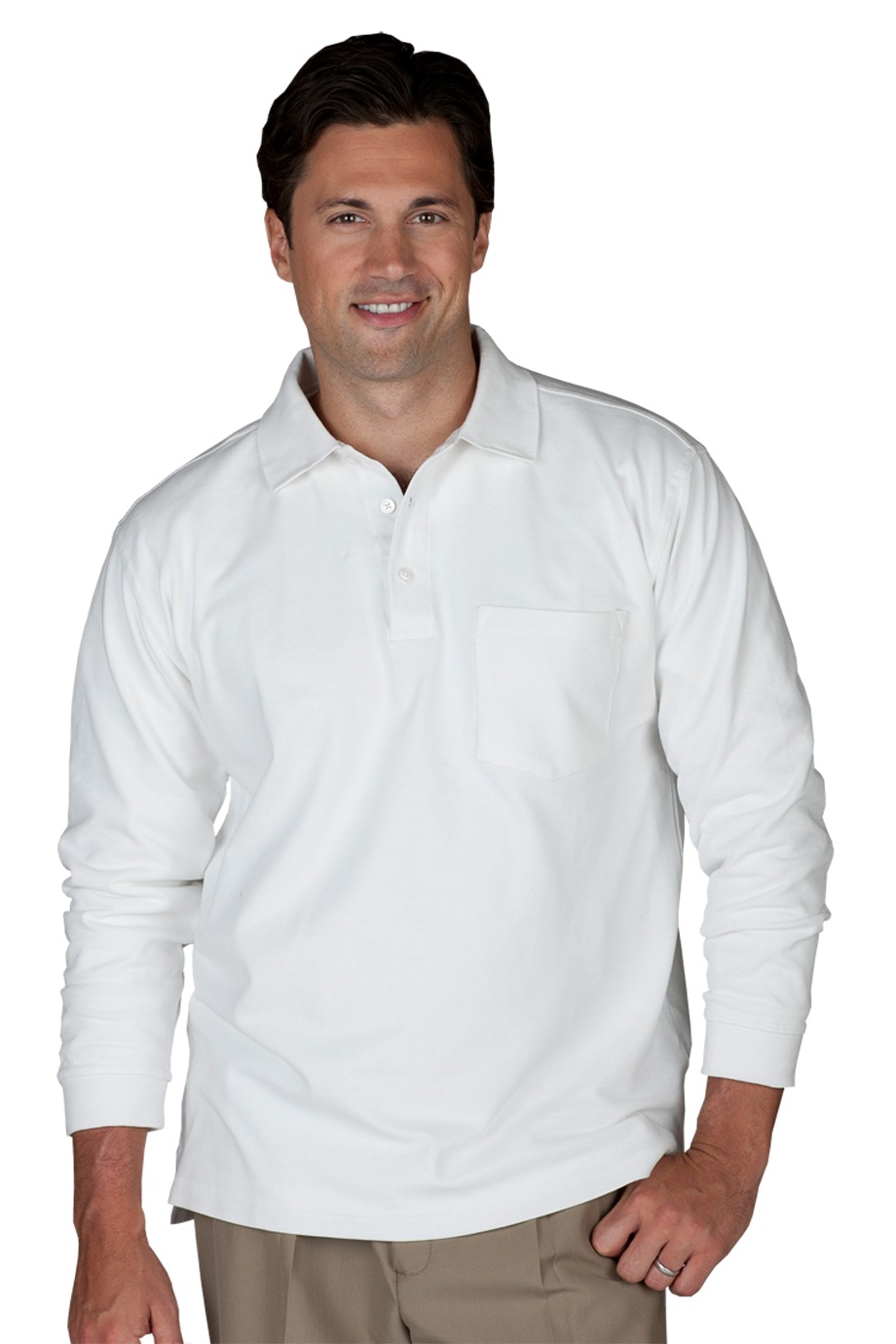 Edwards Garment 1525 - Unisex Long Sleeve Pique Polo ...