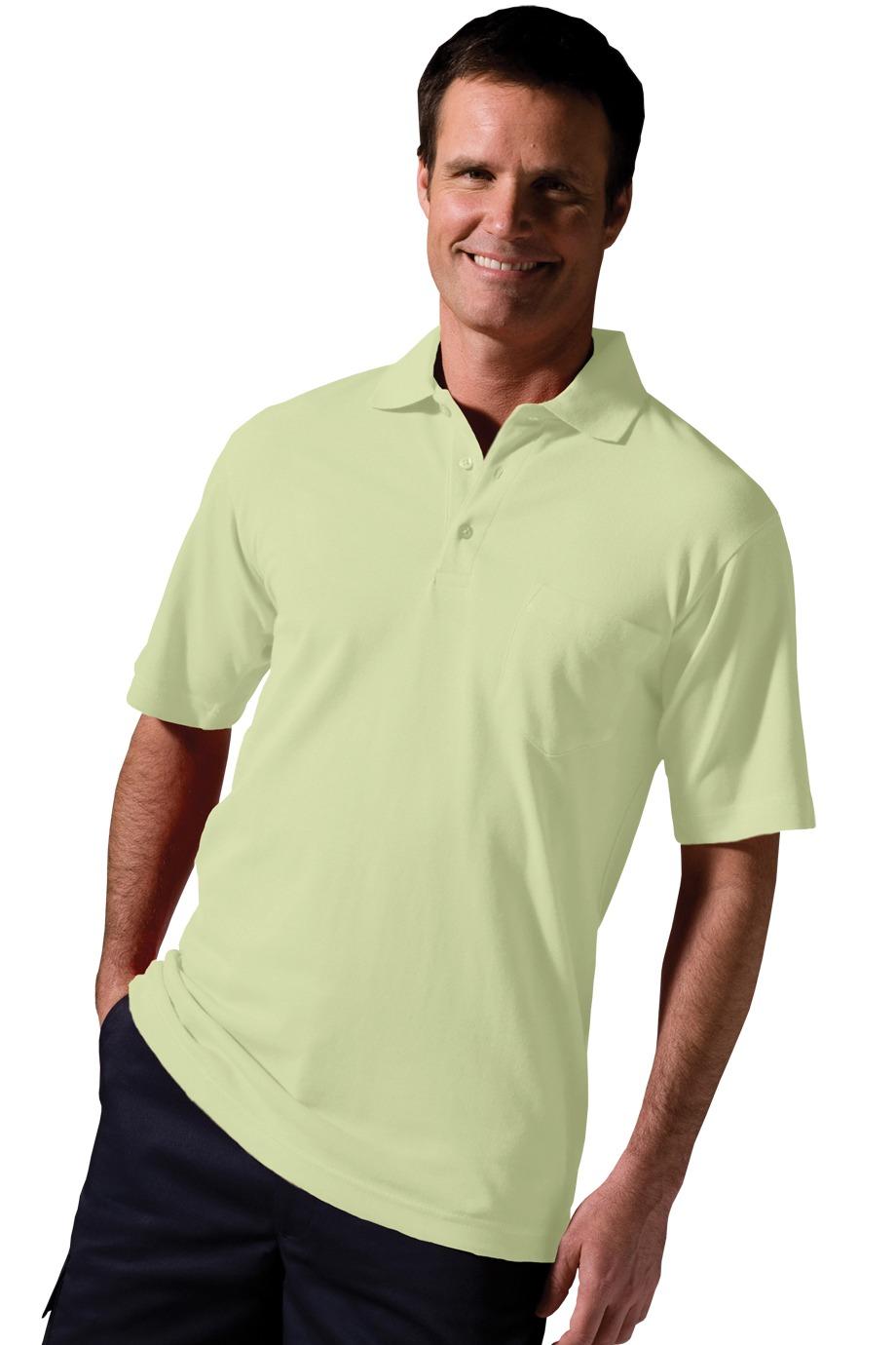 Edwards Garment 1535 - Soft Touch Short Sleeve All Cotton Pckt Pique Polo