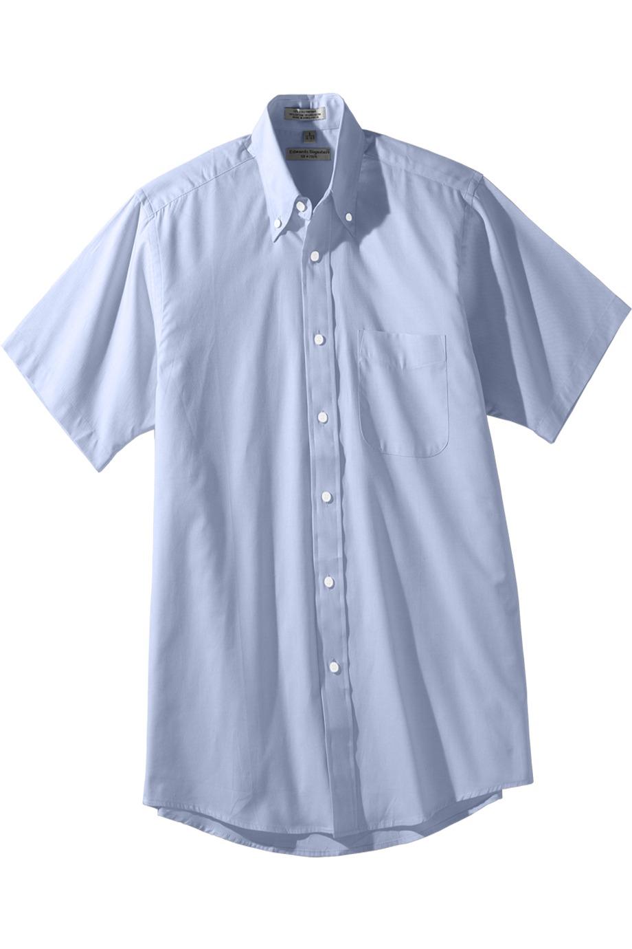 Edwards Garment 1925 - Men's Short Sleeve Pinpoint Oxford Shirt