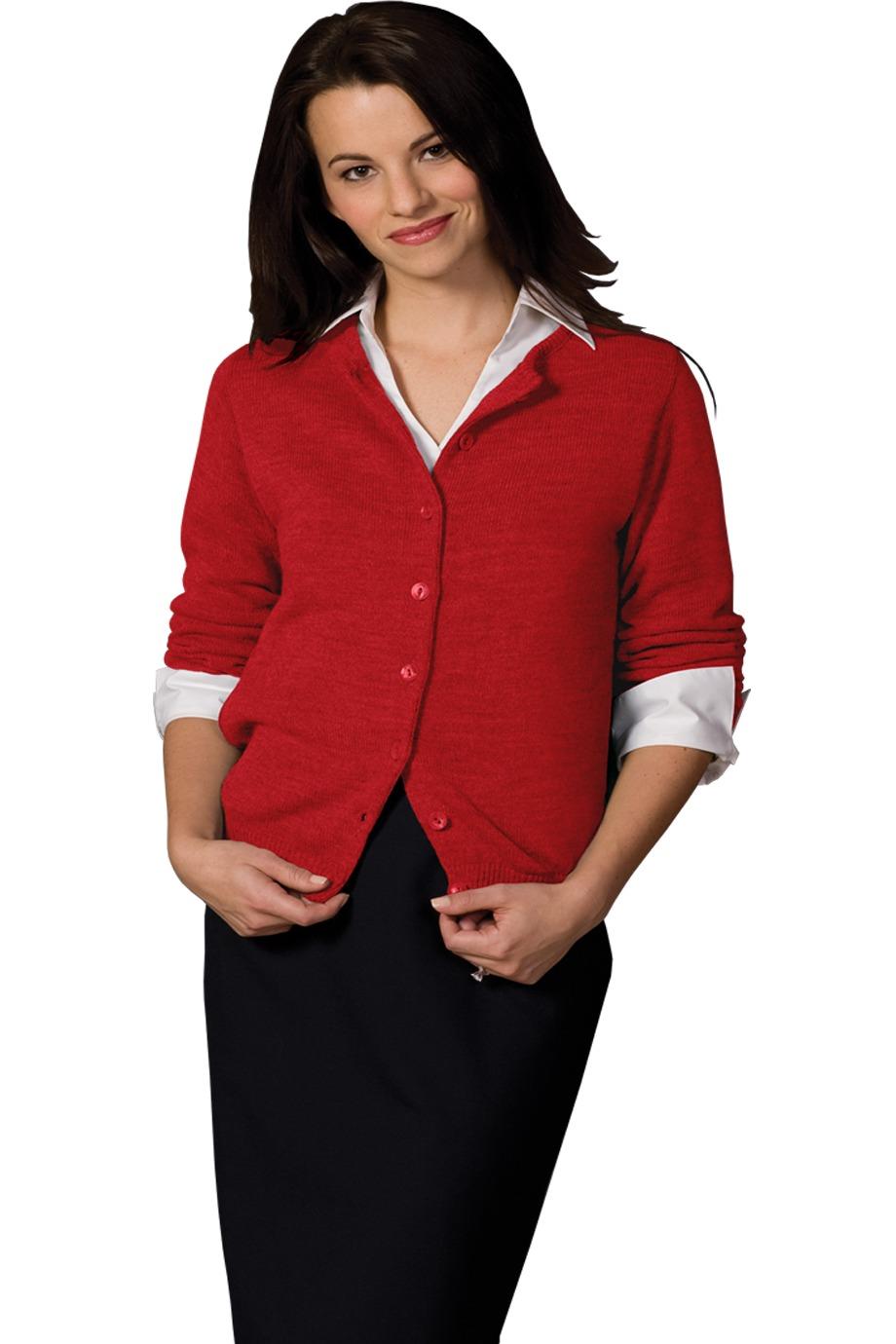 Edwards Garment 220 女士圆领开襟羊毛衫