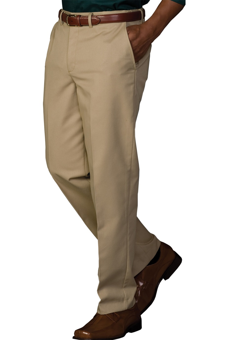 Edwards Garment 2578 - Men's Easy Fit Chino Flat Front ...