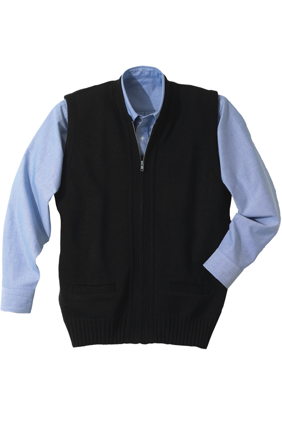 Wholesale Cotton Navy Sweater Vest - from $12.49