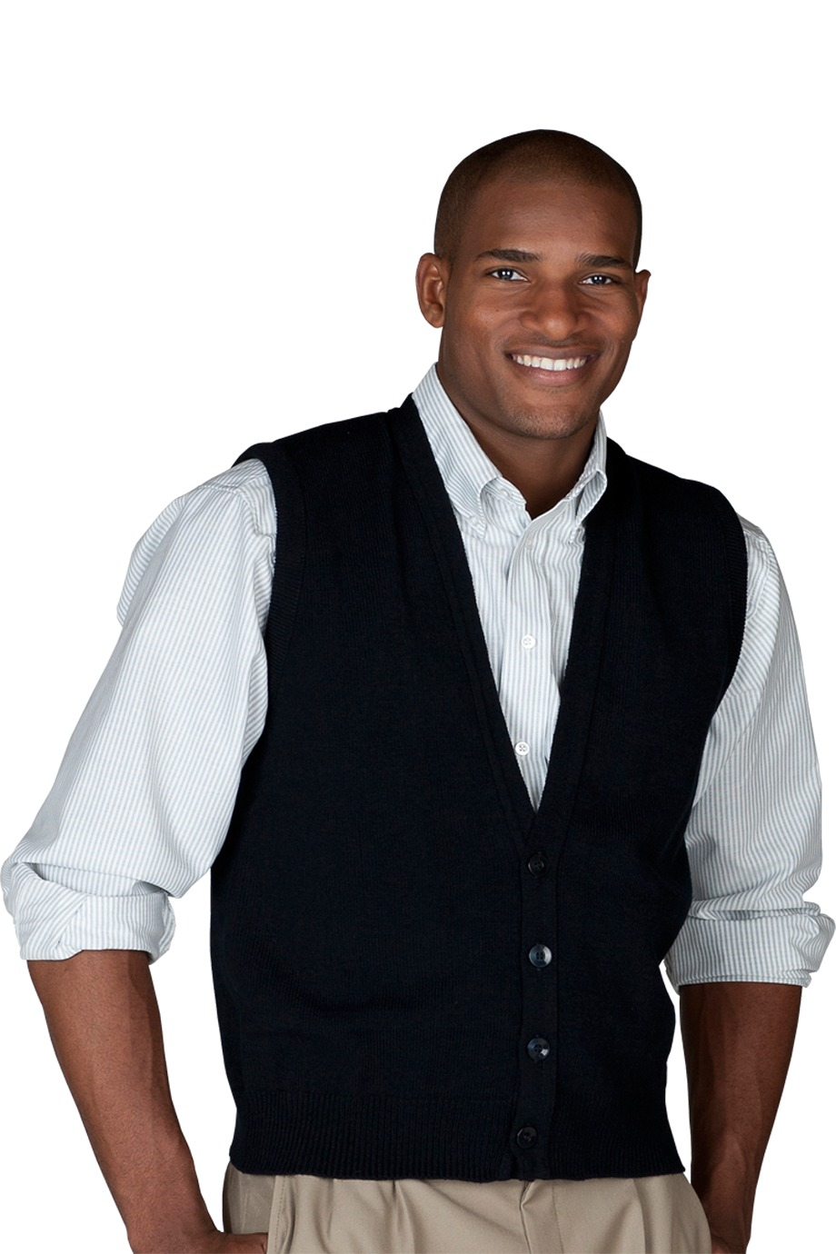 Edwards Garment 352 - Men's Button Front Vest With No ...