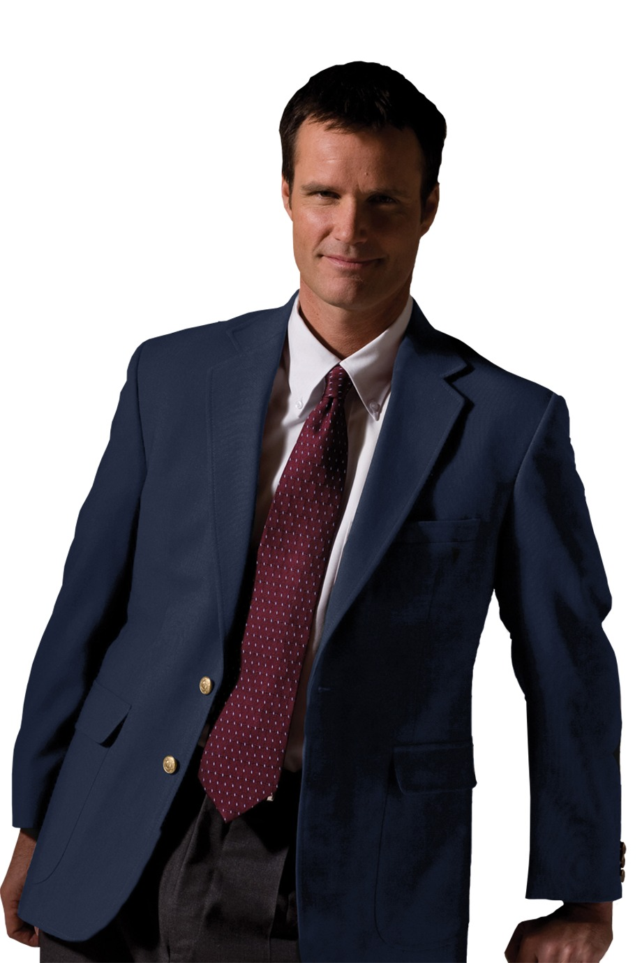 Edwards Garment 3830 - Men's Hopsack Wool Blend Blazer