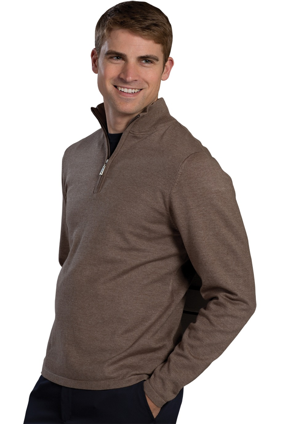 Edwards Garment 4072 - Quarter Zip Fine Gauge