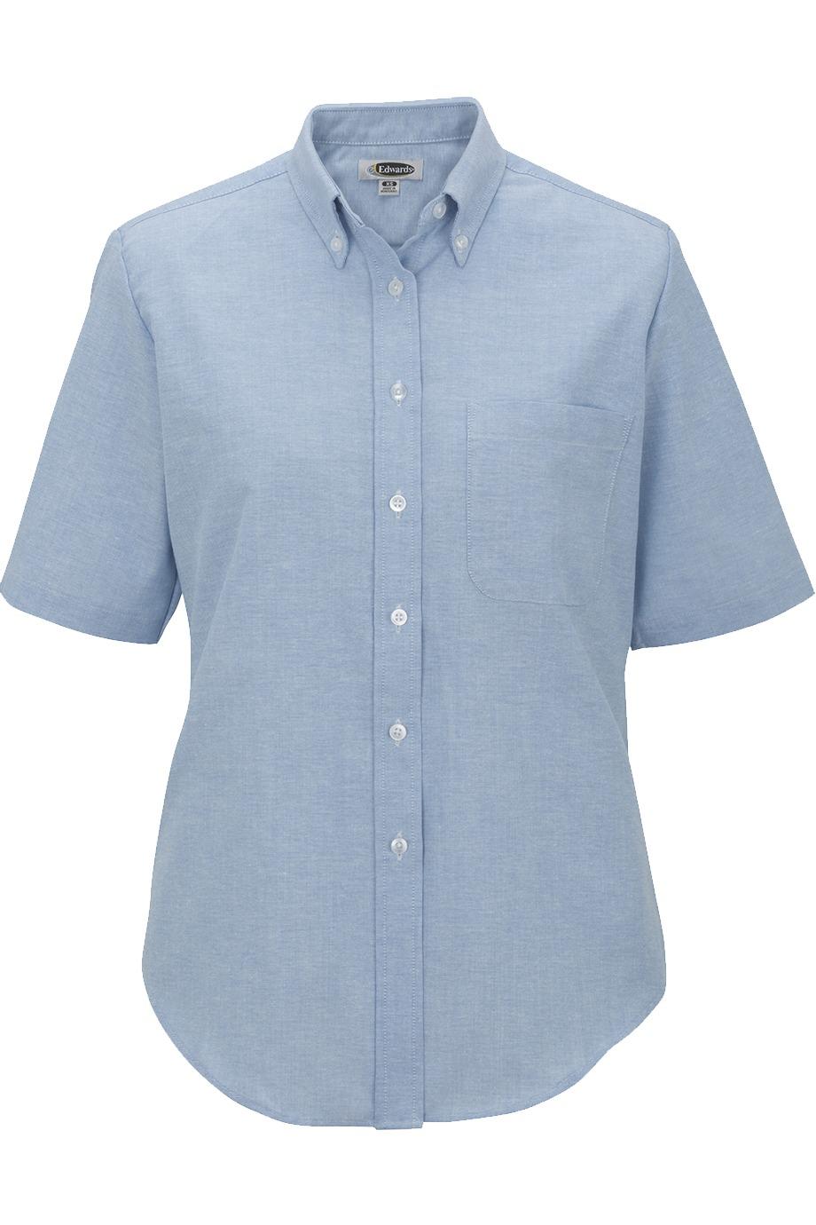 Edwards Garment 5027 女士短袖牛津布衬衣