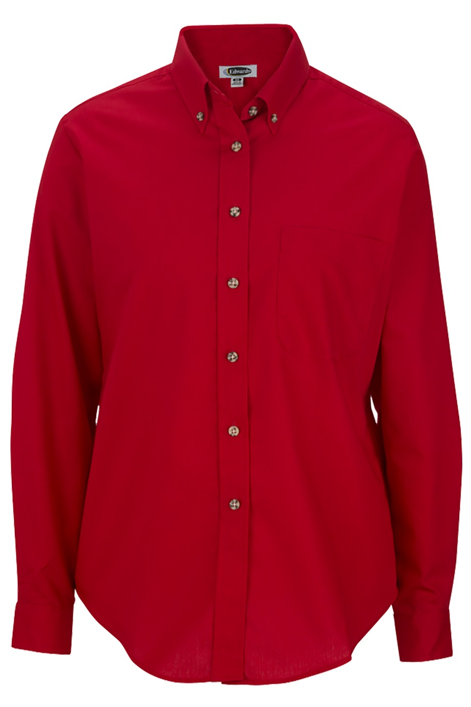 Edwards Garment 5280 - Women's Easy Care Long Sleeve Poplin Shirt
