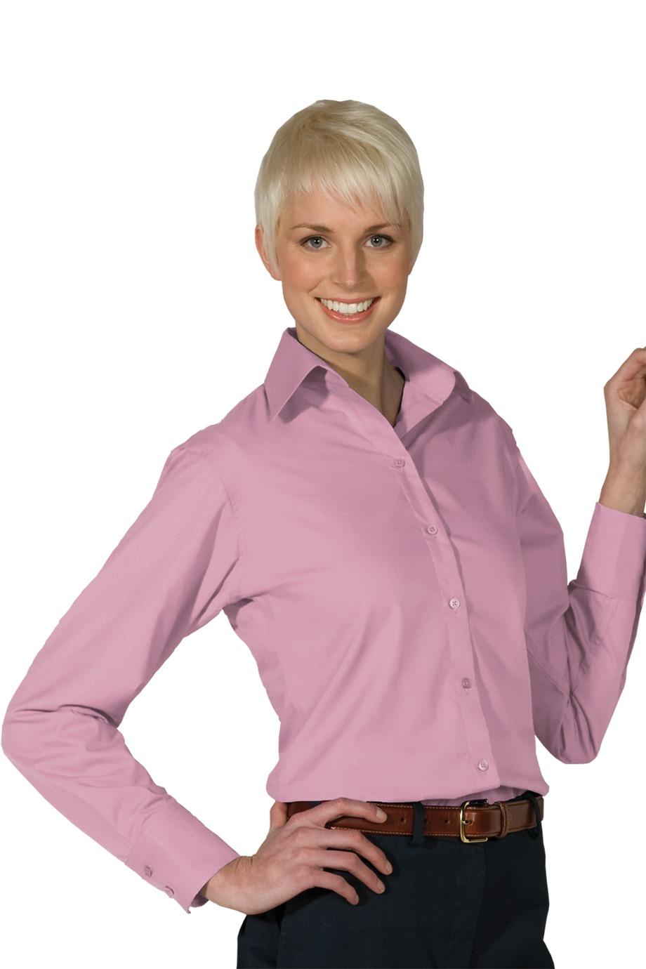Edwards Garment 5295 - Women's Open Neck Poplin Long ...