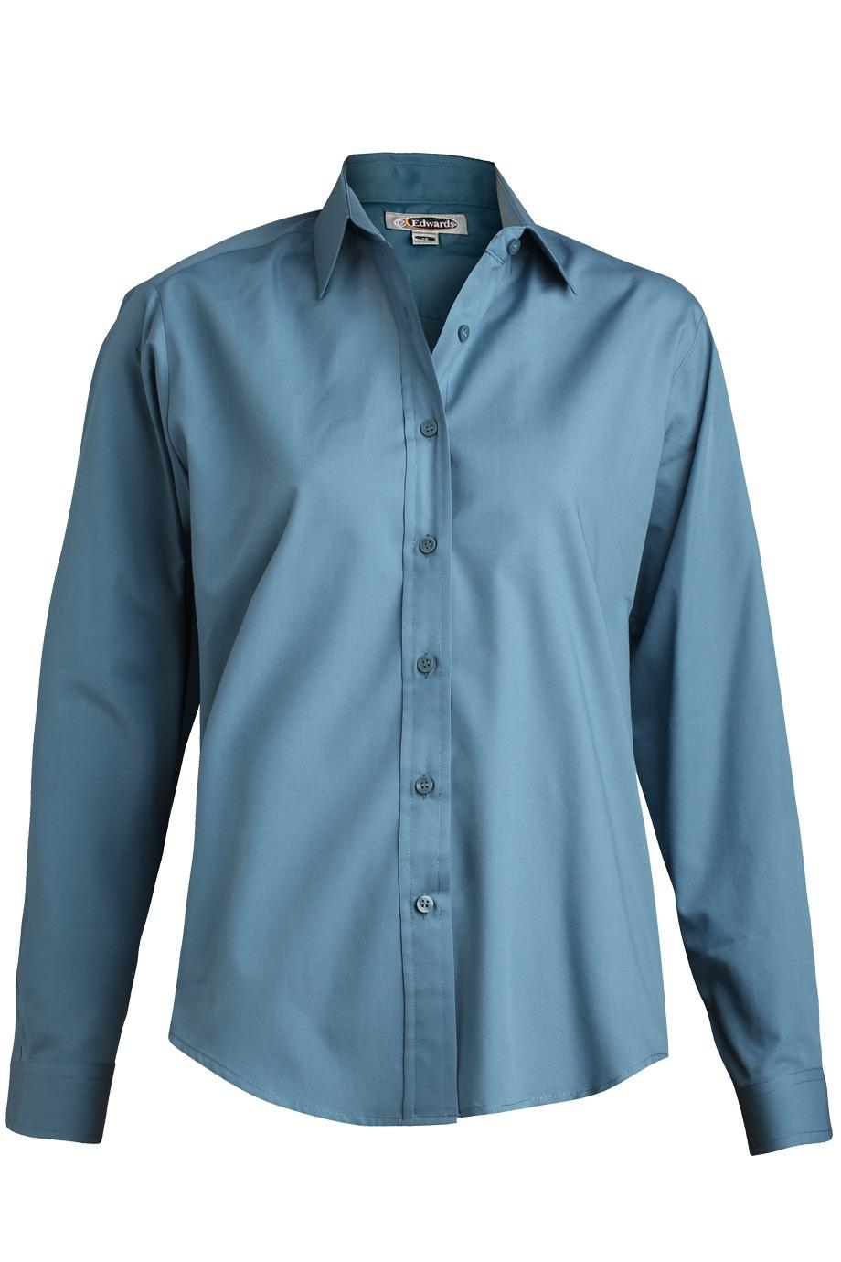 Edwards Garment 5363 - Women's Long Sleeve Value Broadcloth Shirt