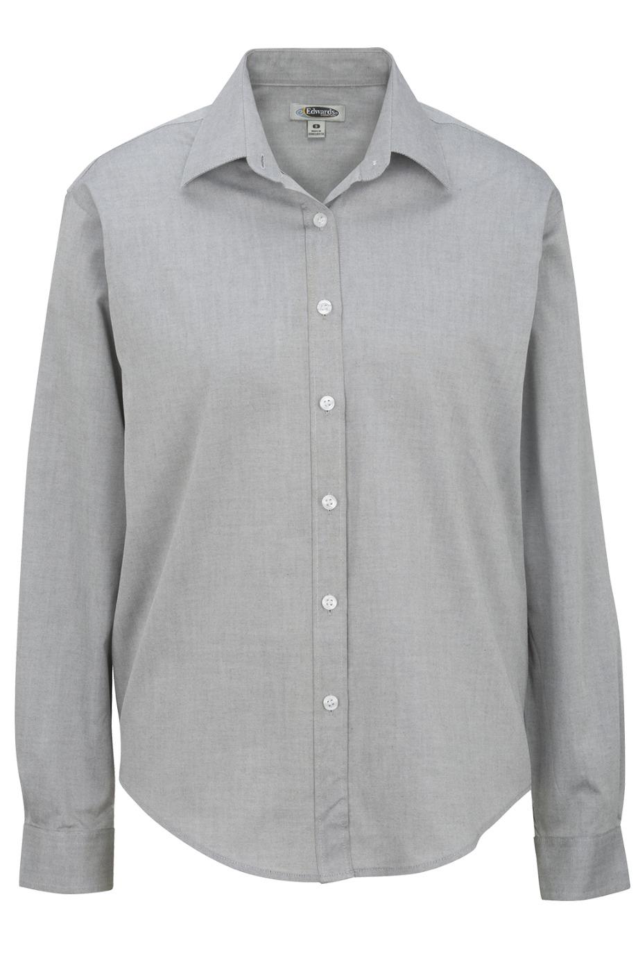 Edwards Garment 5975 - Women's Long Sleeve Pinpoint ...