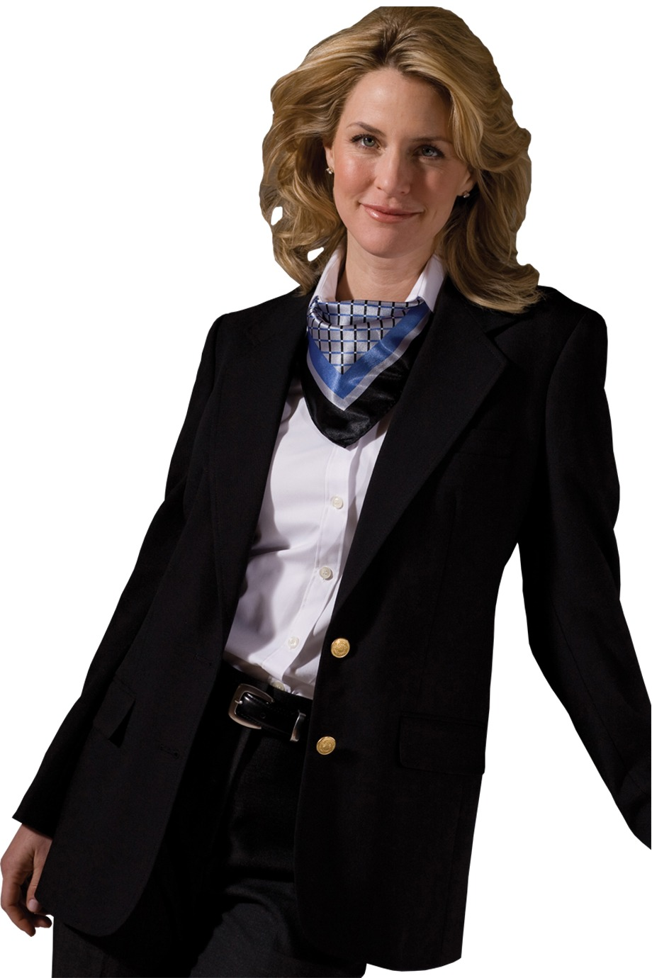 Edwards Garment 6830 - Women's Hopsack Wool Blend Blazer