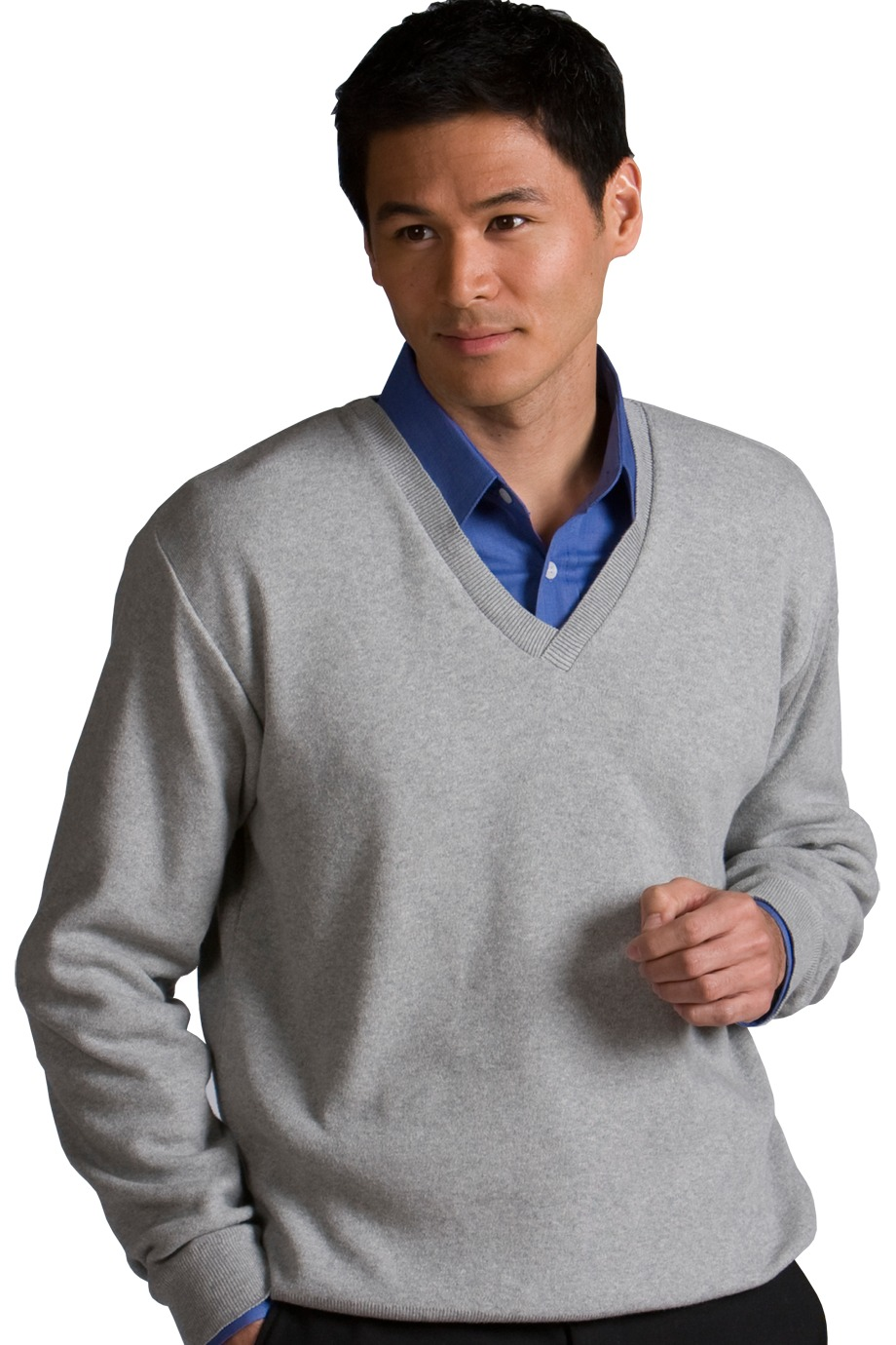 Edwards Garment 700 - Men's Cotton Cashmere V-Neck Sweater