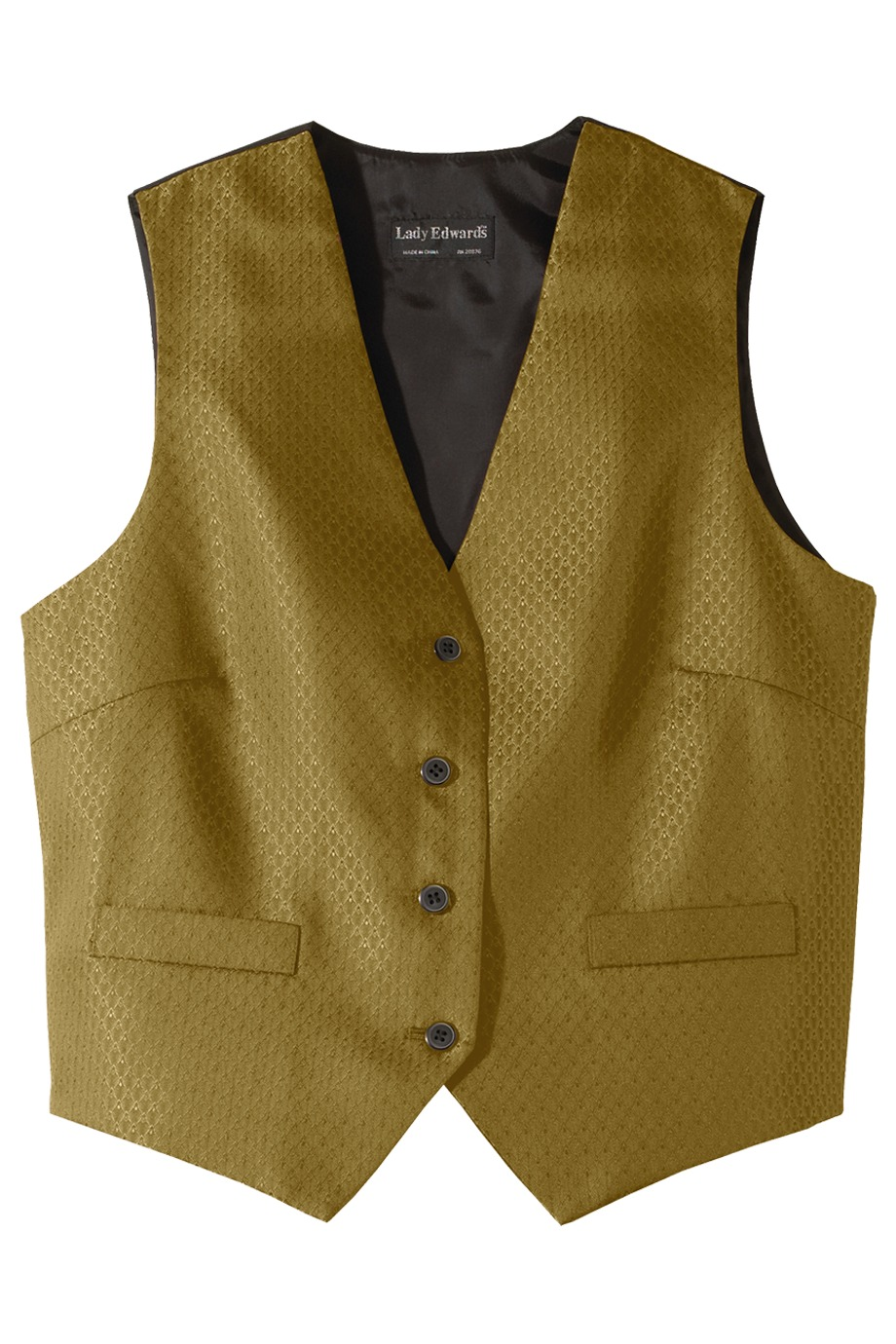 Edwards Garment 7390 - Women's Diamond Brocade Vest
