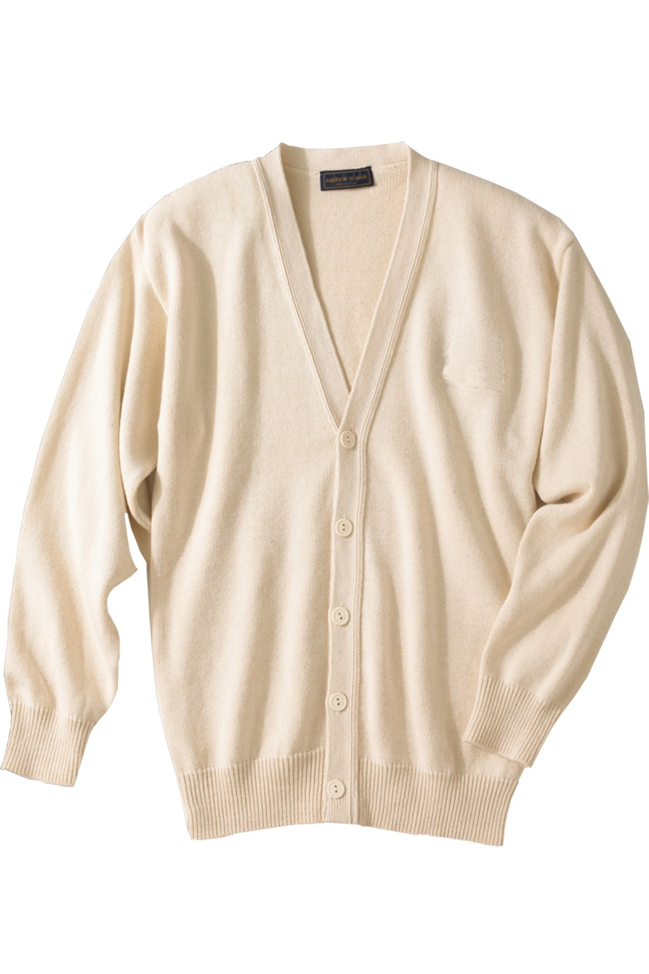 Edwards Garment 780 - Jersey Stitch V-Neck Cardigan