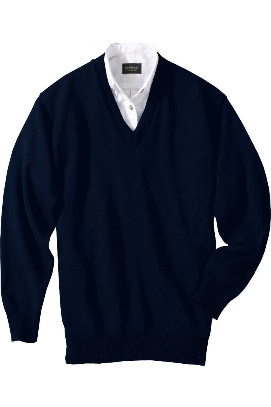 Edwards Garment 790 - Jersey Stitch V-Neck Sweater