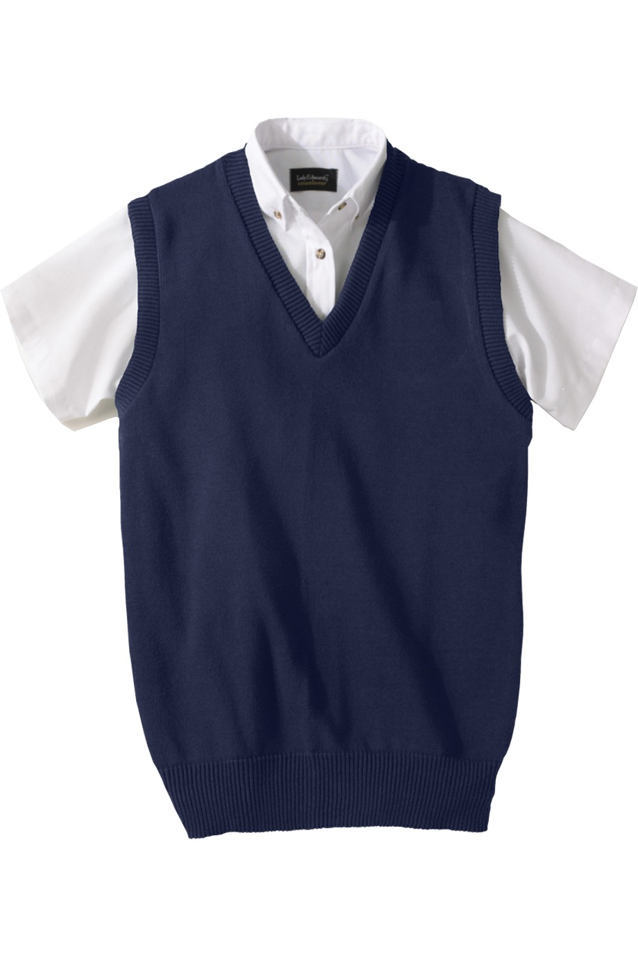 Edwards Garment 791 - Jersey Stitch V-Neck Vest