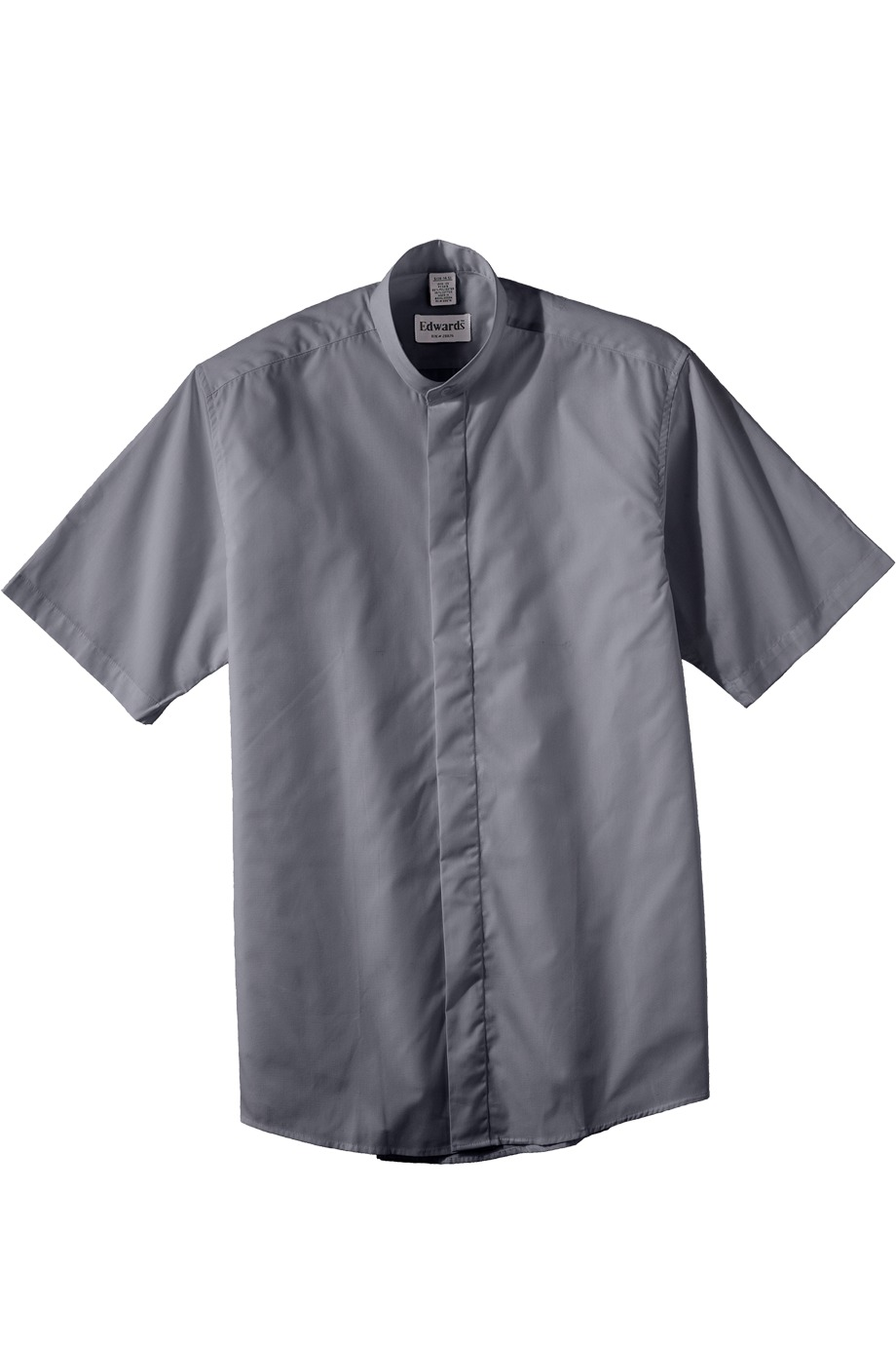Edwards garment 1346 men 39 s short sleeve banded collar for Mens big and tall banded collar shirts