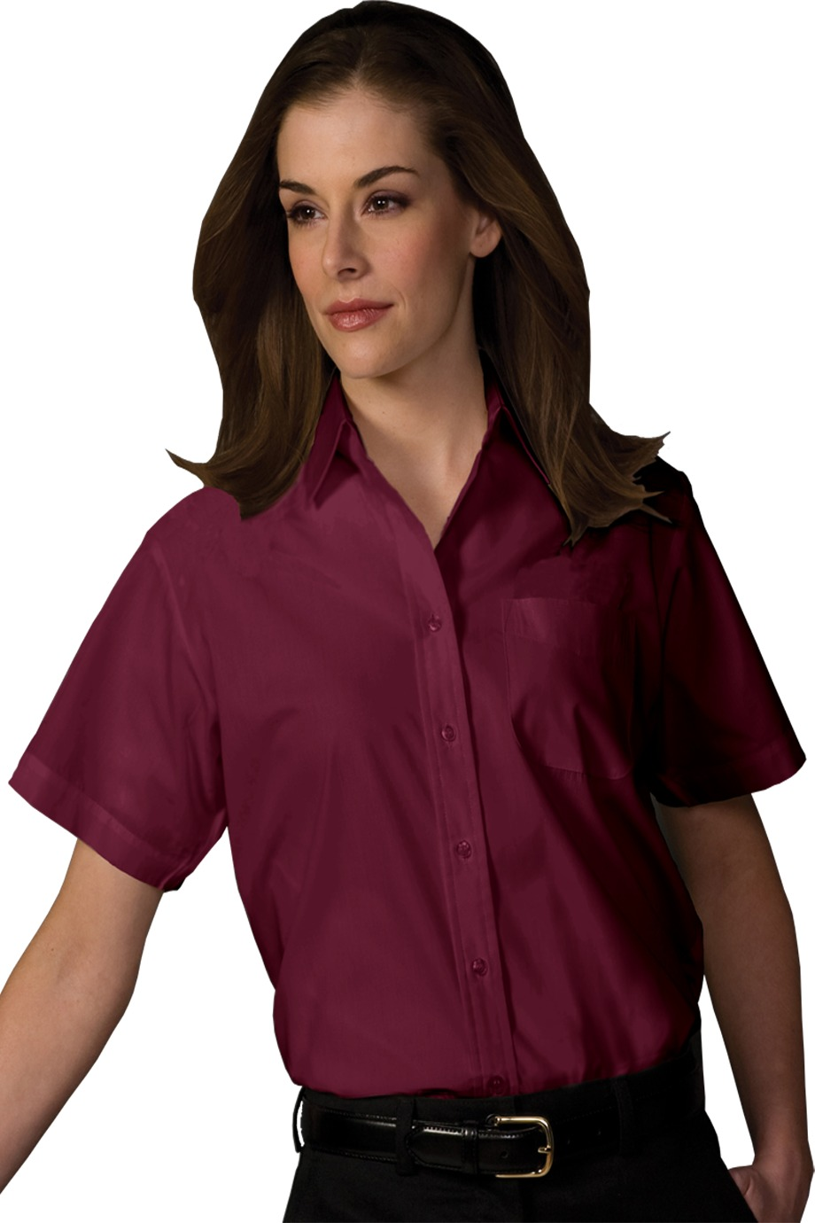 Edwards Garment 5313 - Women's Short Sleeve Value Broadcloth Shirt