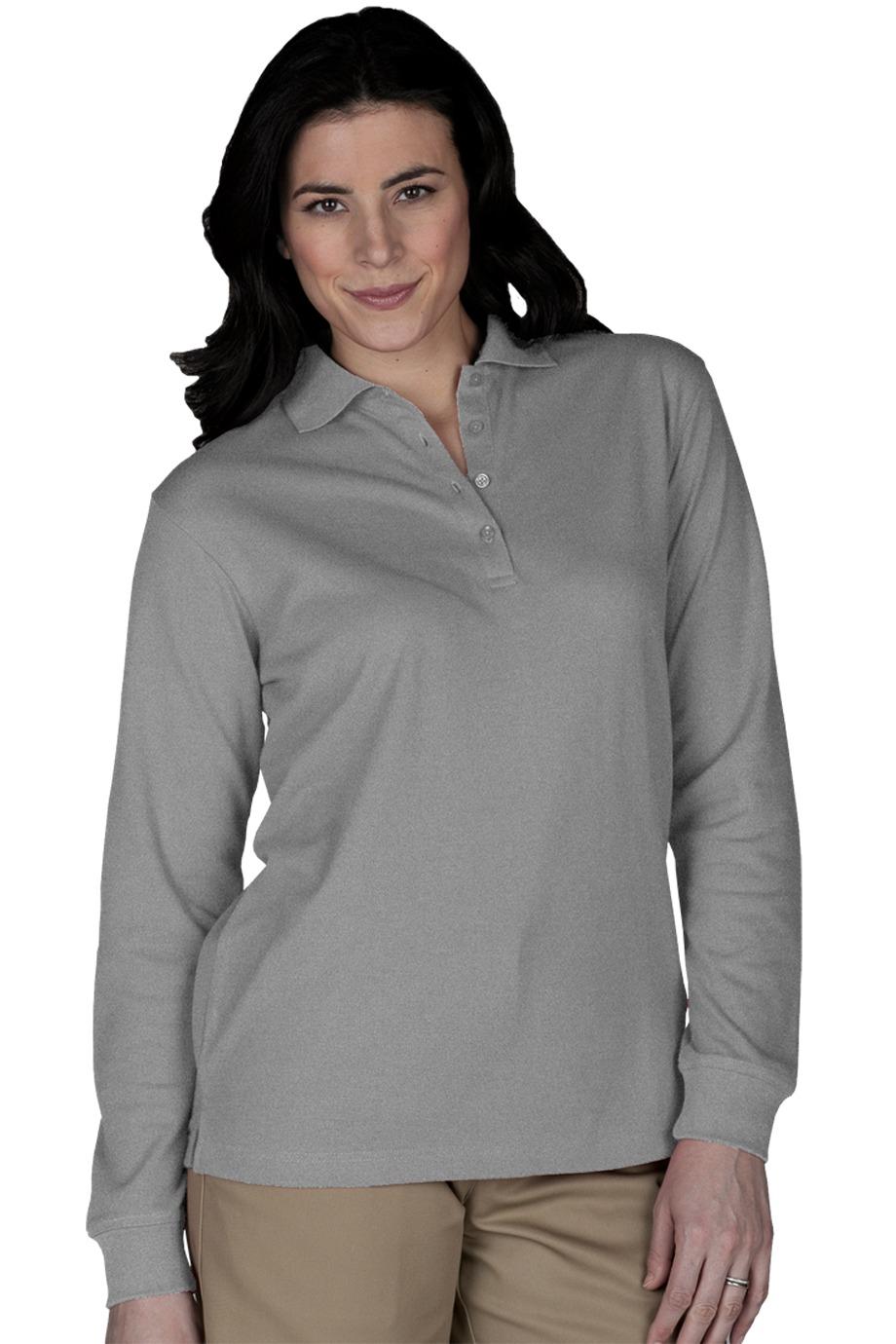 Edwards Garment 5515 Women 39 S Long Sleeve Pique Polo 14