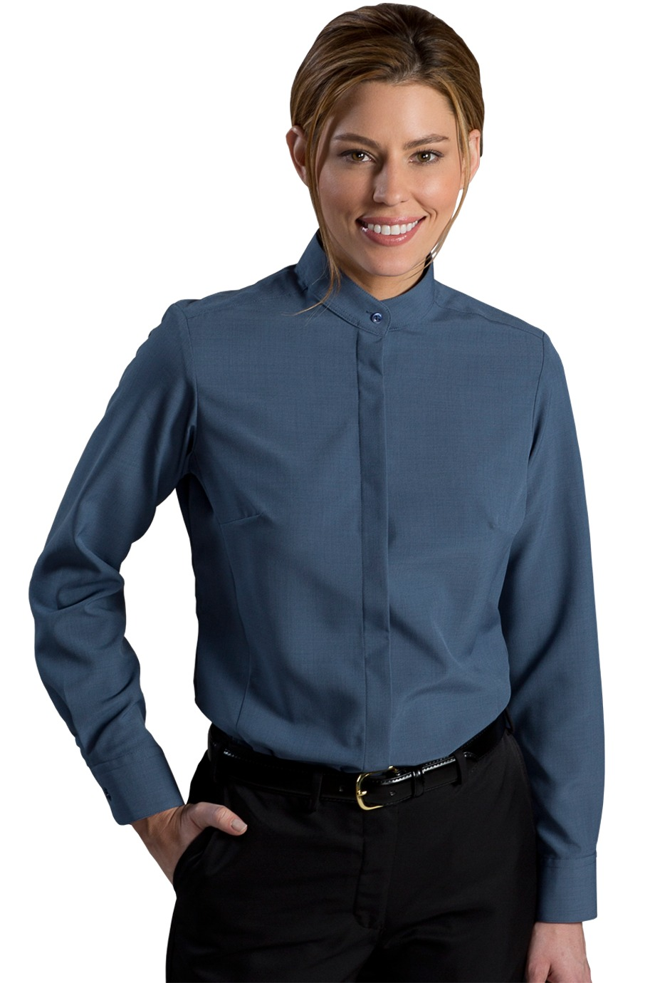 Edwards Garment 5392 - Ladies Batiste Banded Collar Shirt