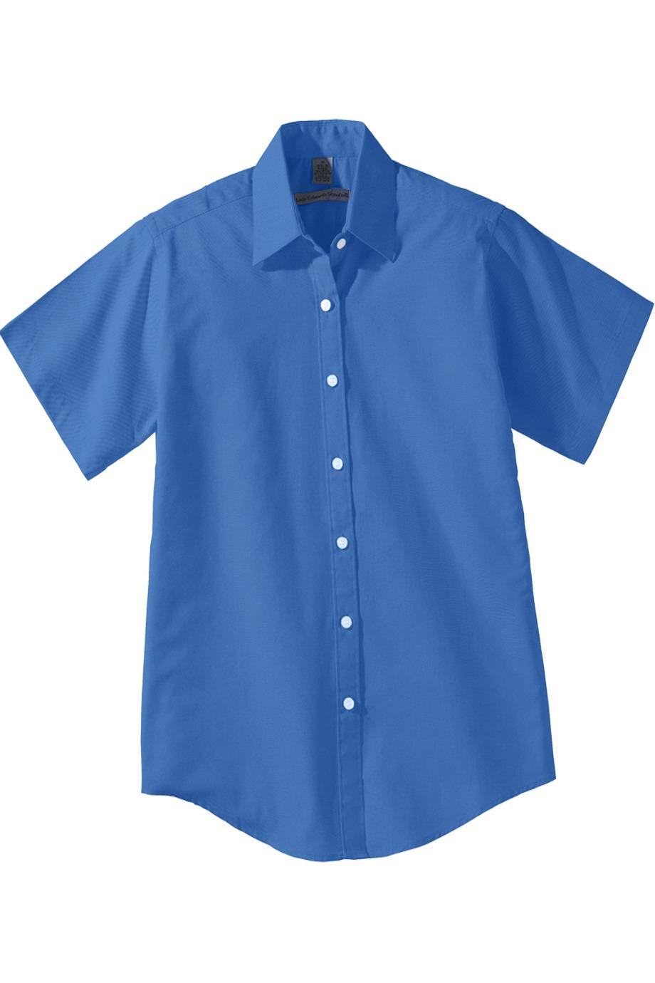 Edwards Garment 5925 - Women's Short Sleeve Pinpoint Oxford Shirt