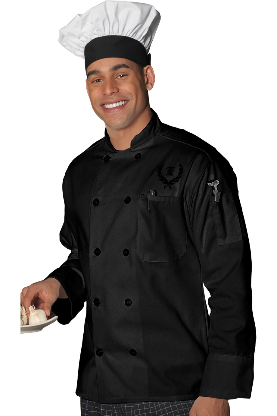 Edwards Garment 3301 - 10 Pearl Button Chef Coat