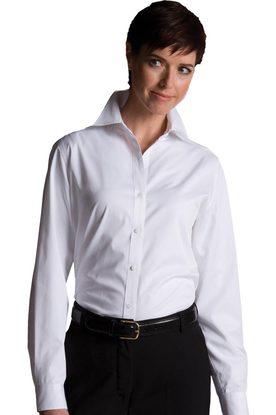 Edwards Garment 5750 - Women's Cottonplus Long Sleeve Twill Shirt