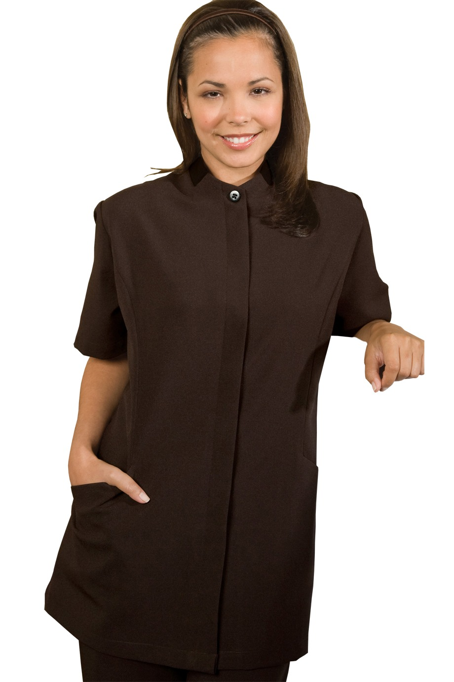 Edwards Garment 7278 - Women's Hidden Placket Solid ...