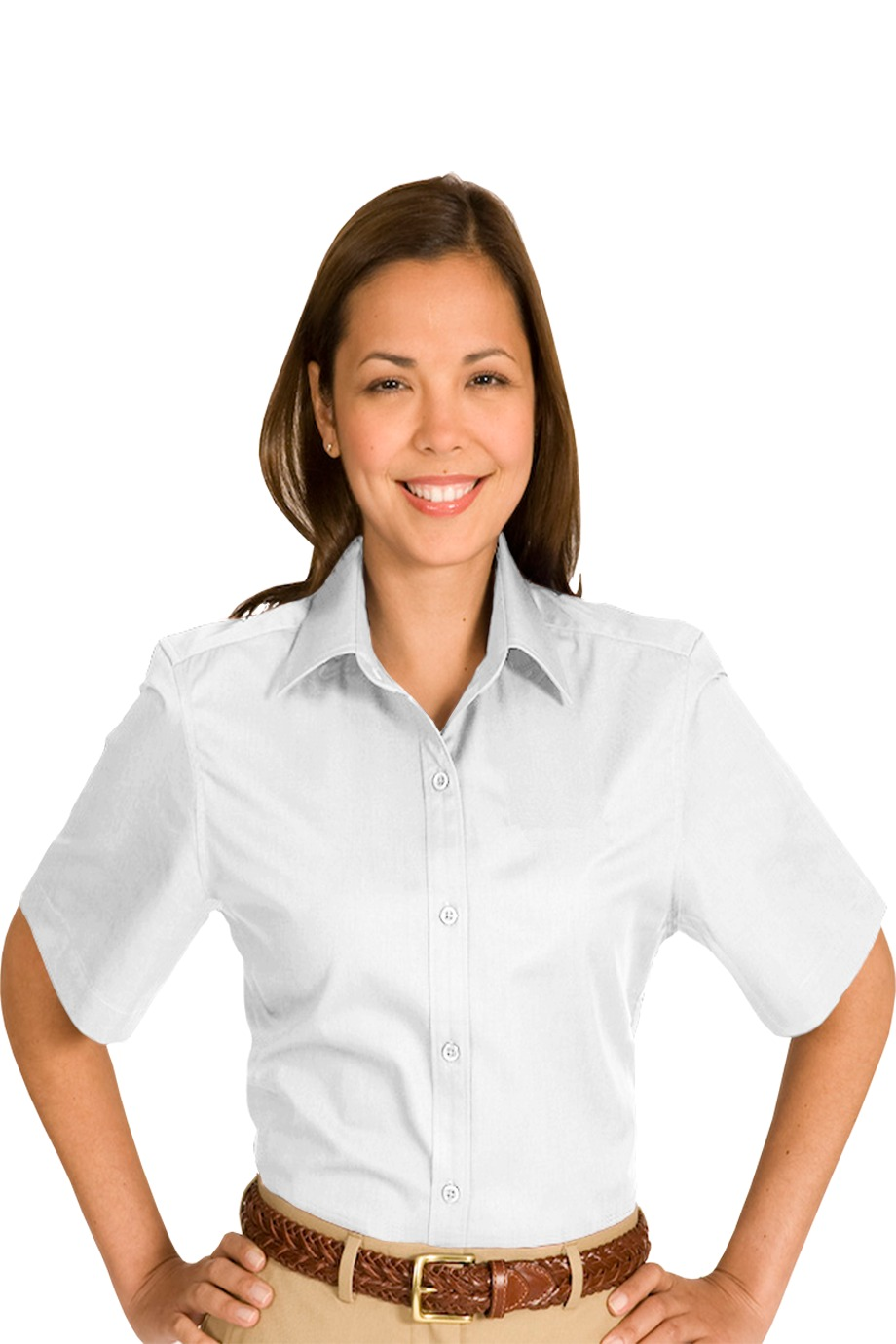 Edwards Garment 5740 - Women's Cottonplus Short Sleeve Twill Shirt