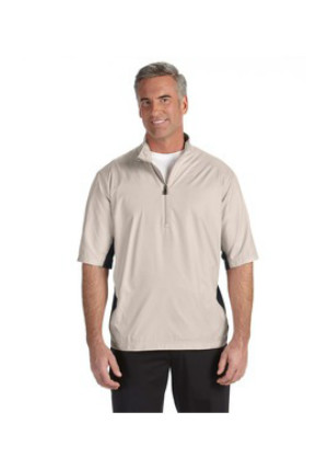 Adidas A167 - ClimaLite Colorblock Half-Zip Wind Shirt
