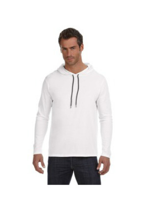 Anvil 987AN - Ringspun Long-Sleeve Hooded T-Shirt