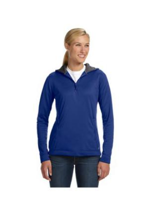 Russell Athletic FS8EFX - Tech Fleece Quarter-Zip Pullover Hood