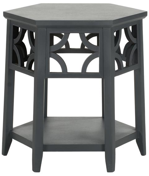 Safavieh - AMH4602B CONNOR HEXAGON END TABLE - CHARCOAL