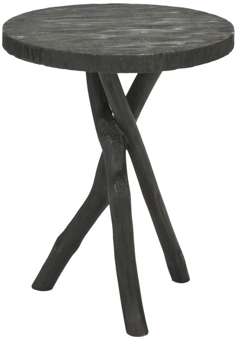 Safavieh - AMH4608B QUINN TRIPOD END TABLE - BLACK