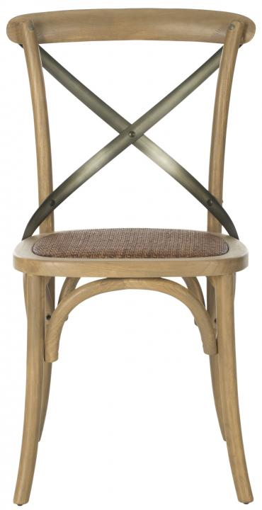Safavieh - AMH9501C ELEANOR X-BACK SIDE CHAIR (SET OF TWO)