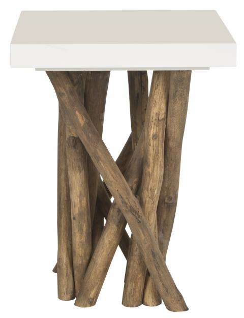 Safavieh - FOX1019A HARTWICK END TABLE - WHITE