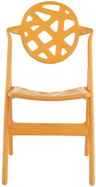 Safavieh - FOX3502B-SET4 KENDALL FOLDING CHAIR- ORANGE ...