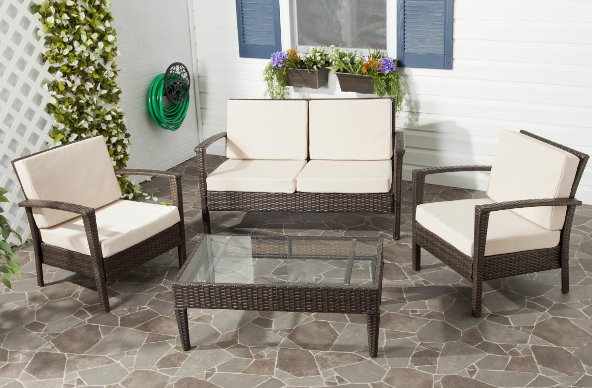Safavieh - FOX6006D PISCATAWAY 4 PIECE SET