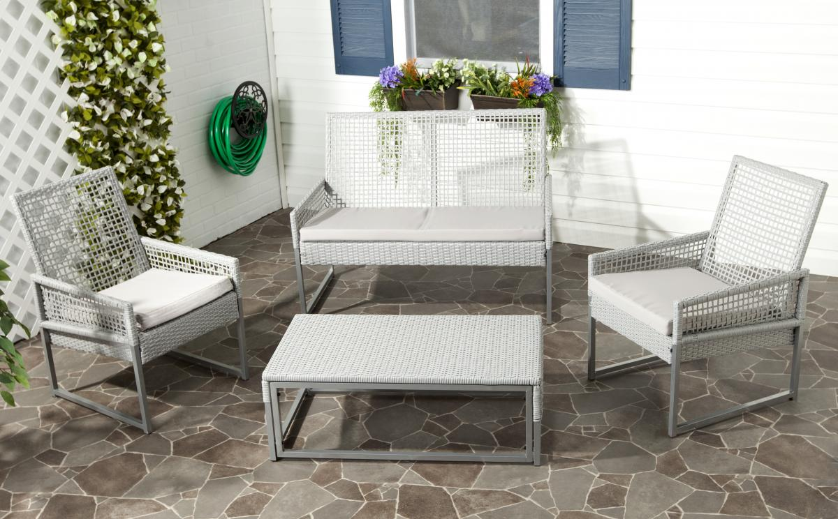 Safavieh - FOX6010A SHAWMONT OUTDOOR SET