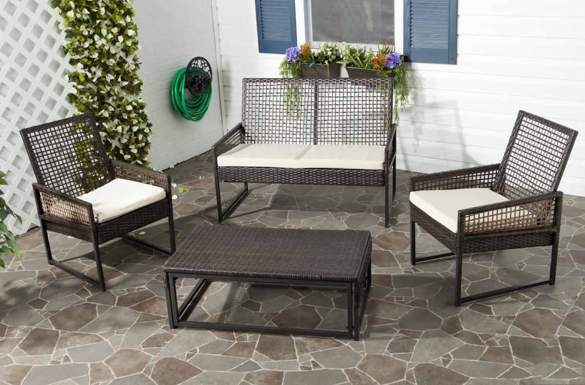 Safavieh - FOX6010B SHAWMONT OUTDOOR SET